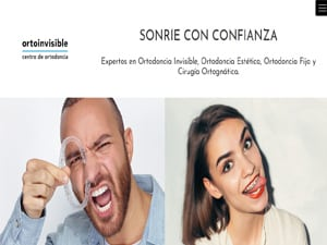 Portada de pagina web de clinica dental Ortoinvisible