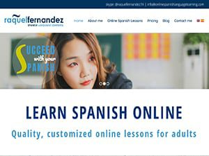 Captura de página web de Onlinespanishlanguage